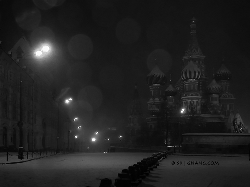 Moscow, Red Square, winter evening